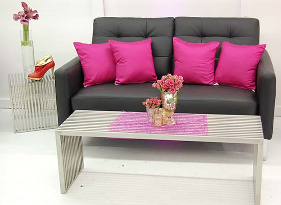 Room Service An Afr Event Furnishings Company Gets In On The Hot Pink Shoe Parties Afr