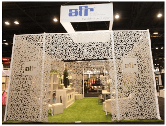 ... In Chicago Last Week, AFR Event Furnishings Showcased Their New  Products By Teaming Up With Some Great Partners To Create A Garden Party In  Our Booth, ...
